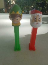 2 PEZ empty Christmas Candy Dispensers!  Santa Claus and his ELF!  S0 Cute! in Bellaire, Texas
