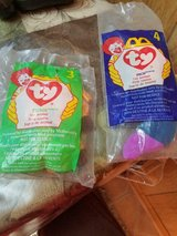 2 Vintage McDonald's TY Beanie Babies! INCH (Worm) and TWIGS (Giraffe) in Bellaire, Texas