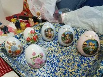 6 Mixed Lot of Decorative Porcelain Hand painted Eggs! in Bellaire, Texas