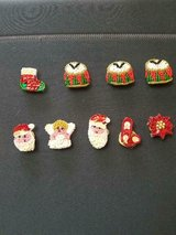 9 Assorted Vintage Homemade Christmas Button Covers!  So Cute! in Bellaire, Texas