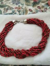 "Lot of 6 Vintage 17"" Red and Brown Beaded Necklaces! New Old Stock!  17"" + 3"" Extensions in Bellaire, Texas"