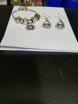 Pretty Texas A & M Logo Fashion Jewelry Set! Bracelet and Pierced Earrings! 3pcs in Bellaire, Texas