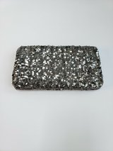 EVENING CLUTCH WALLET PURSE * SILVER * NEW WITH TAGS in Naperville, Illinois