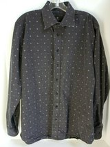 TOSCANO MEN'S LONG SLEEVE BUTTON DOWN DRESS SHIRT SIZE LARGE in Naperville, Illinois