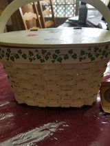 Decorative BOYD;s Straw Handled Basket! Hearts and Ivy Trim! in Bellaire, Texas