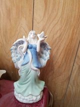 "New Pretty Ceramic Blue and Green Angel Figurine! 14"" in Bellaire, Texas"