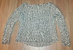 Free People Dark Gray/White Open Cable Knit Sweater, Medium in Naperville, Illinois