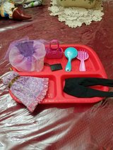 Mattel Barbie Doll Accessories ie clothes, brush, purse, etc.  (tray not included) in Bellaire, Texas