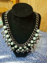 """Large Link Chain Green and Clear Rhinestones Statement Necklace!  20"""" long in Kingwood, Texas"""