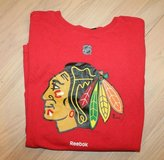 Chicago Blackhawks Reebok Red Logo SS Tee, Youth Large (14/16) in Naperville, Illinois