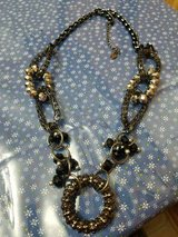 """Pretty Long Black Chain and Bead Statement and Classy Necklace! 28"""" Long Signed Cg in Spring, Texas"""