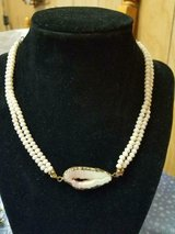 Choker Style White Faux Pearl and Shell Like Necklace! Pretty in Spring, Texas