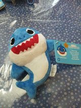 Blue Baby Shark 6 Inch Plush Toy with Plastic Clip! So CUTE!! New with Tags in Spring, Texas