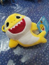 Yellow Baby Shark 6 Inch Plush Toy with Plastic Clip! So CUTE!! in Spring, Texas