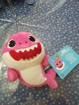 Pink Baby Shark 6 Inch Plush Toy with Plastic Clip! So CUTE!! New with Tags in Spring, Texas