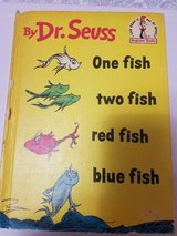 1960 Dr. Seuss Children's Book: One Fish, two fish, red fish, blue fish! Book Club Edition in Bellaire, Texas
