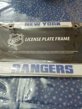 New NHL Officially Licensed New York Rangers Chrome Metal License Plate Frame For Autos in Bellaire, Texas