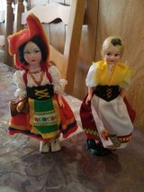 """2 Vintage Souvenir Folk Costume Dress Dolls- MAGIS Roma Italy (7"""") and 750 Germania (7"""")! in Bellaire, Texas"""