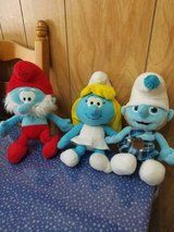 2011 The Smurf Family Plush Toy Dolls: Papa, Smurfette, and Baby Smurf! 3pcs in Bellaire, Texas