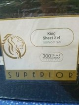 NEW 4 pc Solid Black Superior King Size Sheet Set! 4pcs 100% Cotton 300 Thread Count in Bellaire, Texas