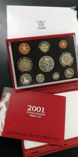 2001 united kingdom deluxe proof coinage set (10) coins in Camp Lejeune, North Carolina