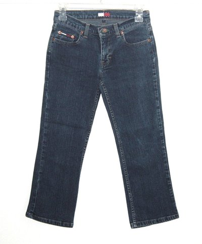 73a76844 Tommy Hilfiger Denim Jean Capri Pants Womens Size 1 Juniors Stretch ...