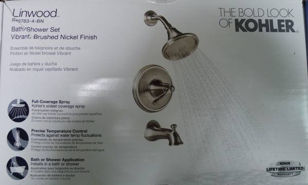 Kohler Linwood Bath/Shower Faucet   Brushed Nickel   R45783 4 BN In