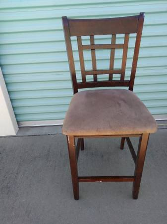 Lattice Back Mahogany Counter Stool | Furniture For Sale On Vacaville  Bookoo!