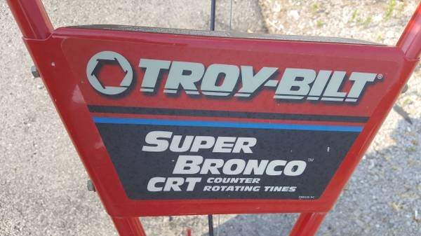 Troy Bilt Super Bronco CRT 208cc 16 In Rear Tine Tiller (L37128