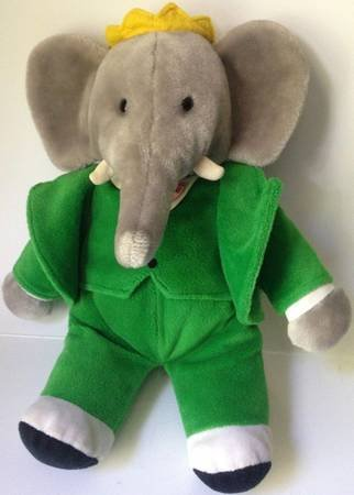 14 Plush King Babar The Elephant Green Suit Stuffed Animal By Gund