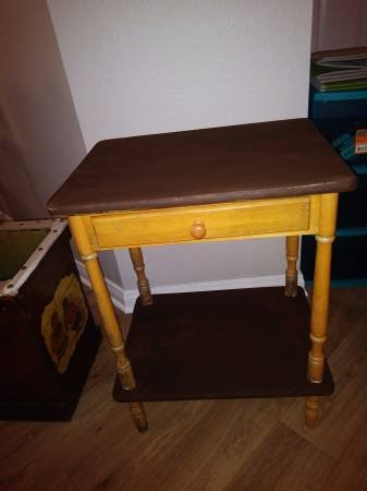 Side Table Drawer Whatnot Shelf Vintage Antique Look Entry Way Table    Furniture For Sale On Travis AFB Bookoo!