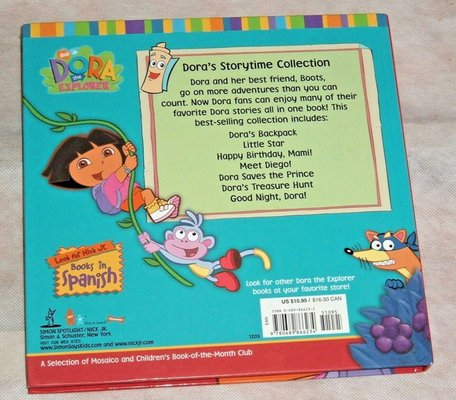 Nick Jr Dora The Explorer 7 Story Collection Hard Cover Book