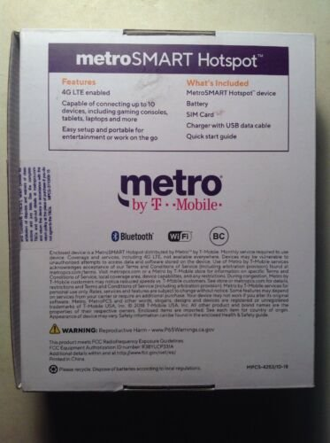 metro by t-mobile smart hotspot only metro pcs 4g lte enbled