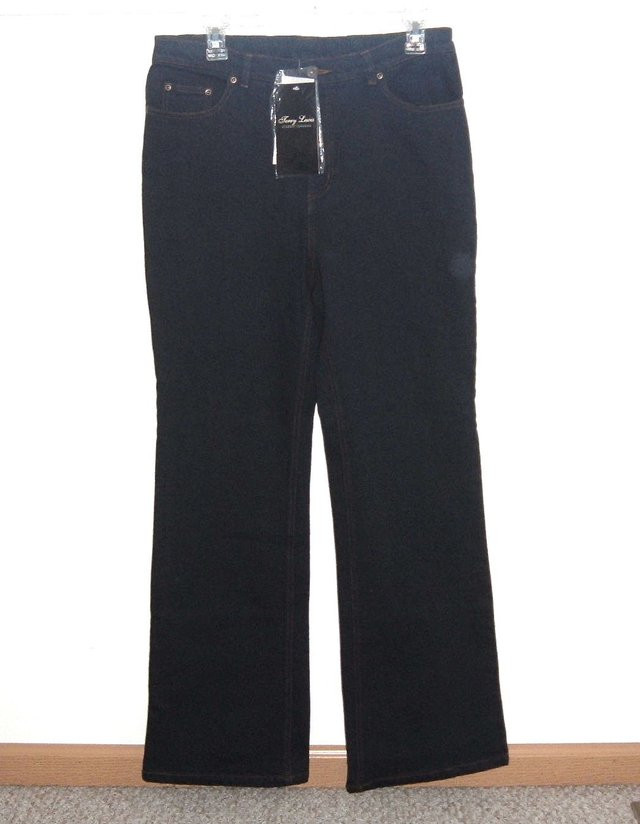 Garage Sales Joliet Il: NEW W Tags Terry Lewis Dark Blue Boot Cut Jeans Size 10 X