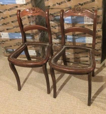 2 Vintage Wood Dining Room Chair Frames In Naperville