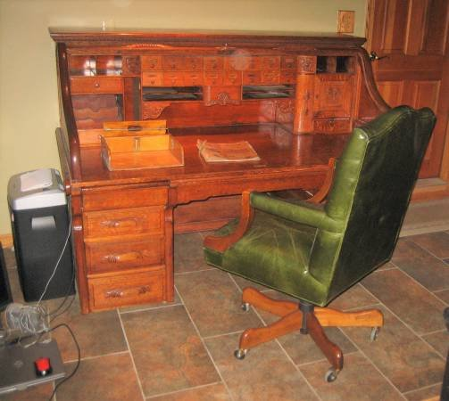 Marvelous Beautiful Antique Bankers Oak Roll Top Desk Late 1890S Evergreenethics Interior Chair Design Evergreenethicsorg