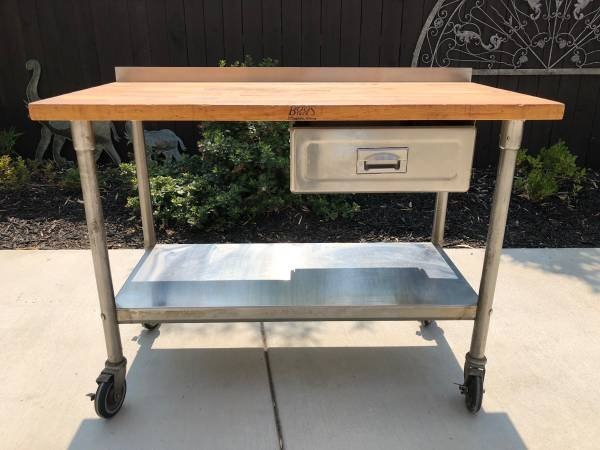 Boos Block Kitchen Island / Work Table In Travis AFB