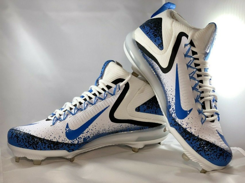 new style dc1e0 7718c nike zoom trout 3 metal baseball cleats white blue 856503-144 men s size 12  nwob   Fitness   Sports for sale on 29 Palms bookoo!